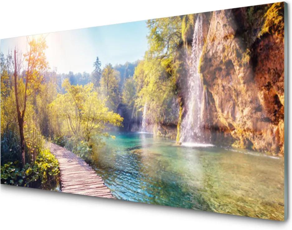 Obraz plexi Jazero Príroda Vodopád