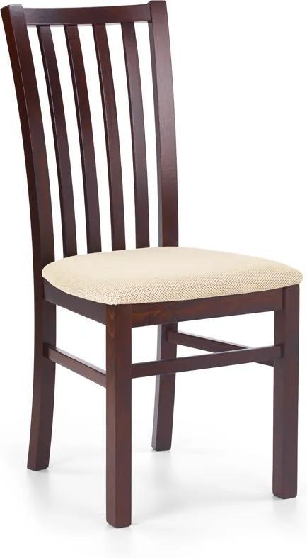 DREVONA Jedálenská stolička masív tmavý orech a béžová Torent beige GERARD 7