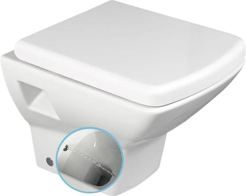 Soluzione 10SZ02002 DL WC závesné 35x50,5cm s bidetovou sprškou