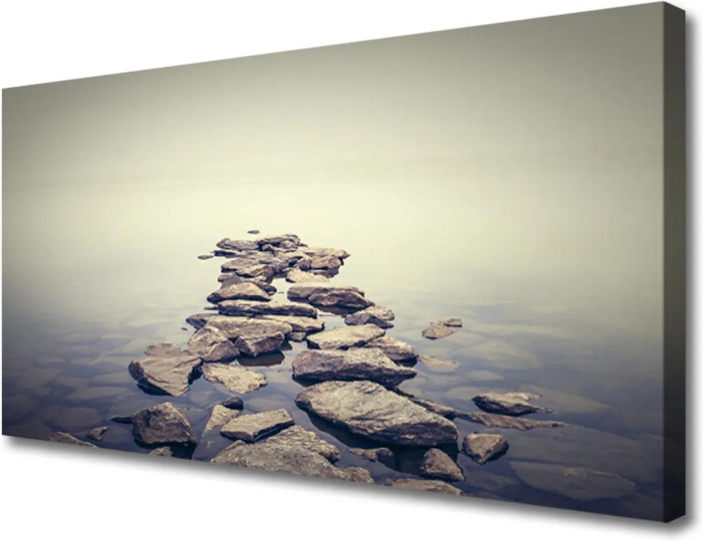 Obraz na plátně Kameny voda krajina