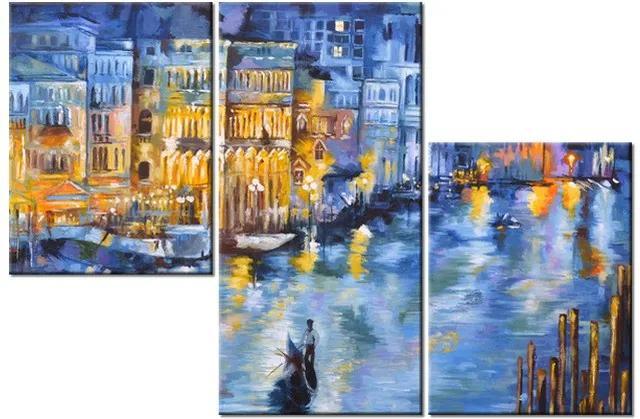 Tlačený obraz Nočné Benátky 90x60cm 3537A_3L