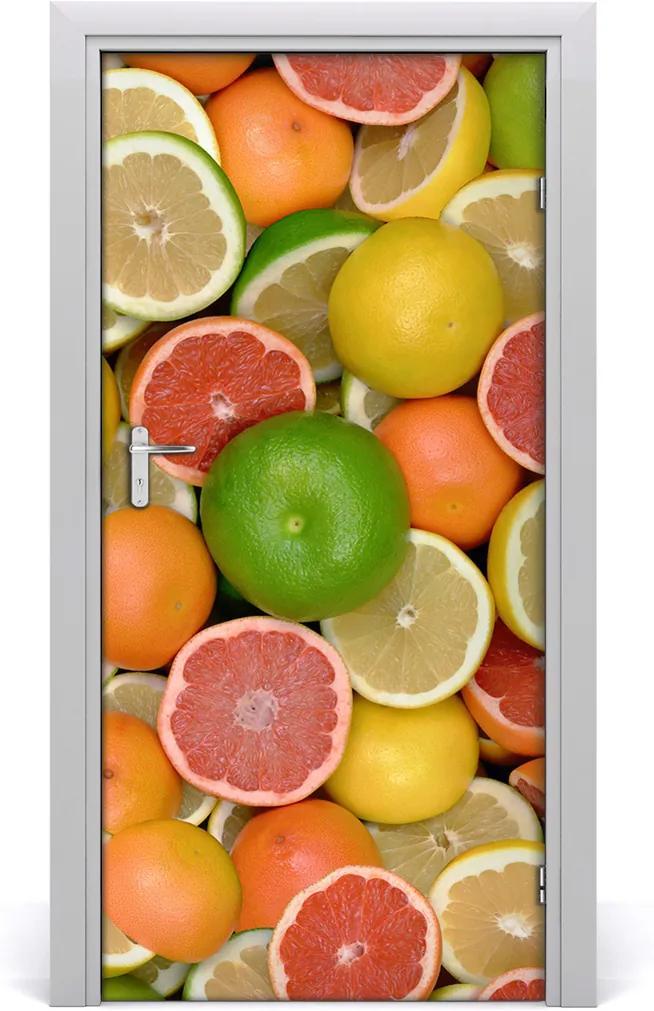 Fototapeta na dvere samolepiace  citrusové ovocie