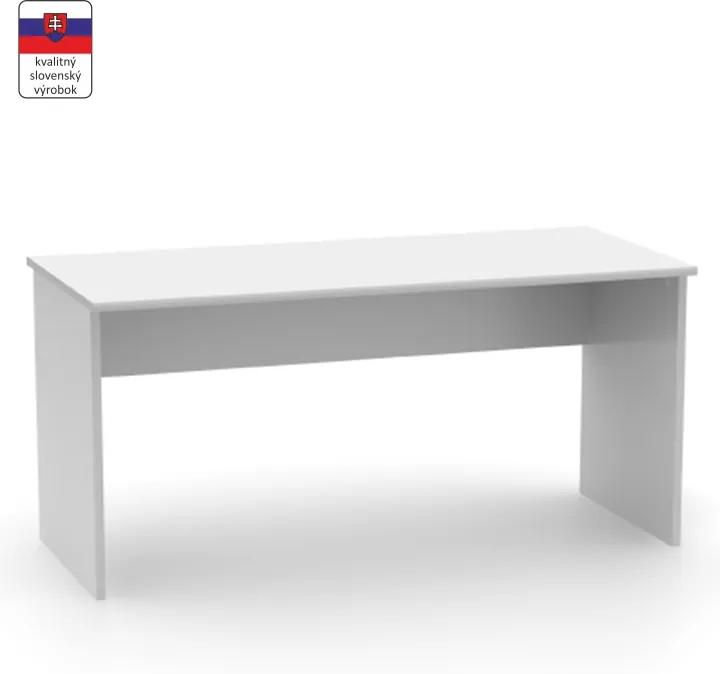 Písací stôl, biela, JOHAN NEW 01