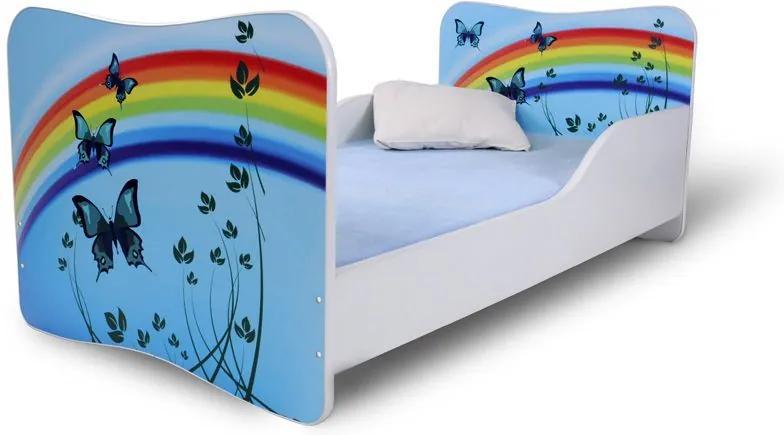 MAXMAX Detská posteľ MOTÝLCI + matrac ZADARMO