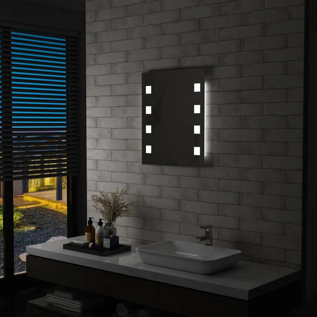 vidaXL Kúpeľňové LED nástenné zrkadlo 50x60 cm