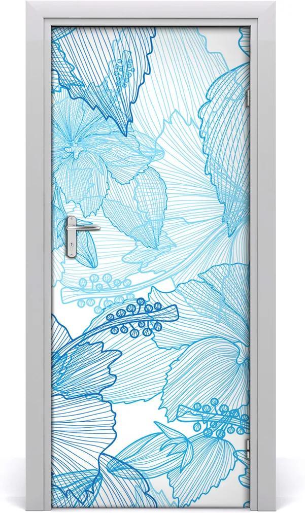 Samolepící fototapeta na dveře Havajské květiny