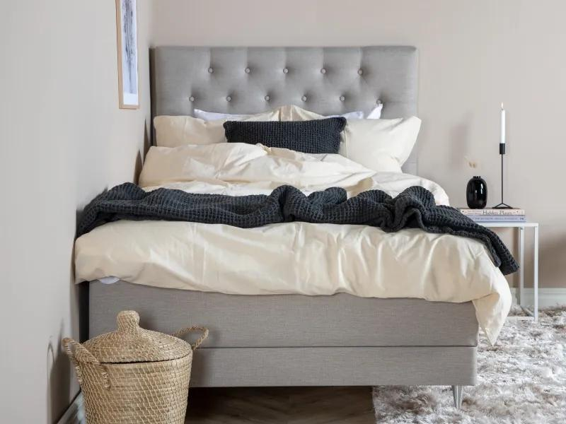 Vansbro 120 polohovateľná boxspring posteľ béžová čelo Furuvik