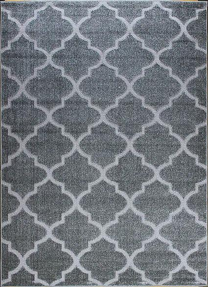 Berfin Dywany Kusový koberec Lagos 1052 Silver (Grey) - 80x150 cm