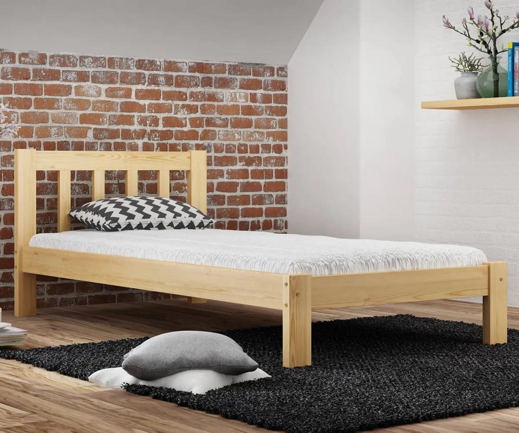 AMI nábytok Posteľ borovica Alena  90x200 masív