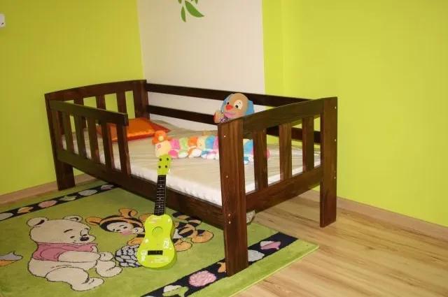 Detská posteľ z masívu Agata, 160x70, orech