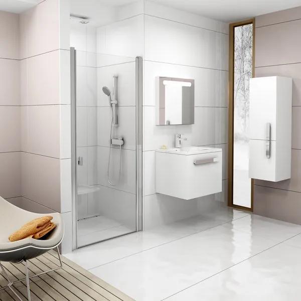 RAVAK CHROME CSD1-80 sprchové dvere, bright alu + Transparent 0QV40C00Z1
