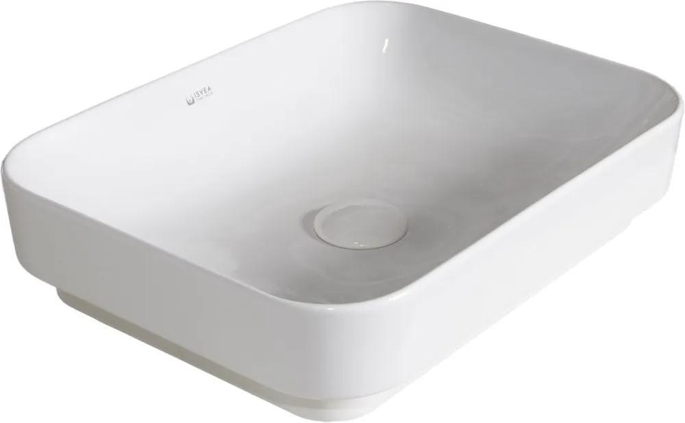 Isvea Sott Aqua 10SQ50060 keramické umývadlo 60x38cm