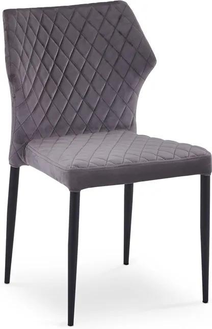 HALMAR K331 jedálenská stolička tmavosivá / čierna