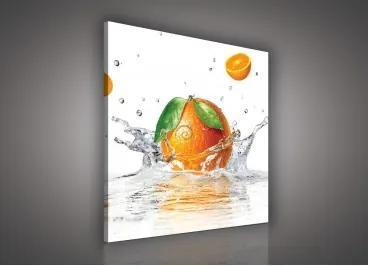 Obraz na plátne štvorec - OB1831 - Pomaranč 80cm x 80cm - O2