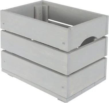 Drevená debnička SD-3-30x20 farebné varianty Povrchová úprava: Sivá