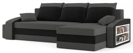 Rozkladacia rohová sedacia súprava s taburety a poličkou HEWLET