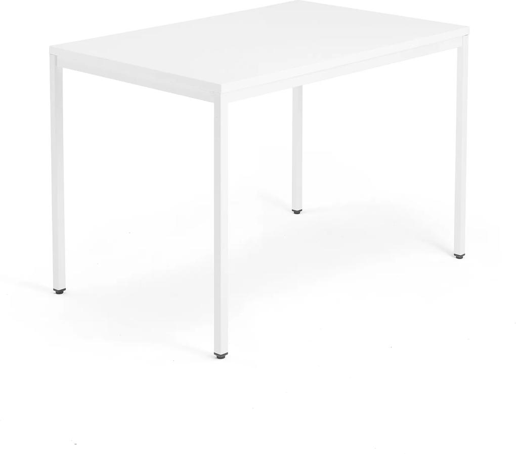 Kancelársky pracovný stôl Modulus, 1200x800 mm, biela/biela