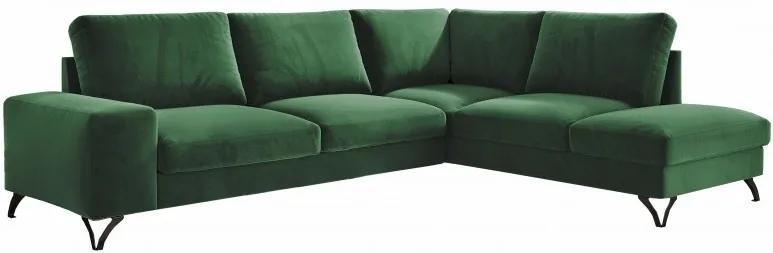 Hector Rozkladacia rohová pohovka FLAMENCUS tmavo zelená - pravá
