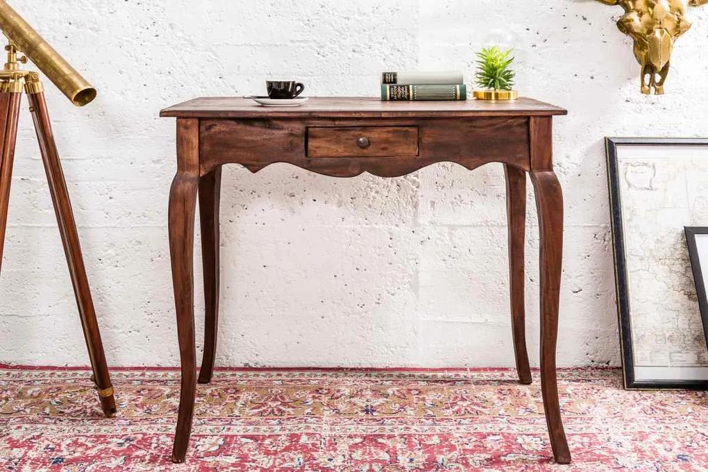 Písací stôl Miley, prírodný mahagón - II. trieda - SB