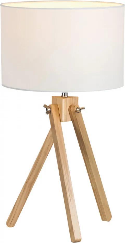 Rábalux 4190 Nočná stolová lampa Soren biely drevo E14 MAX 40W IP20