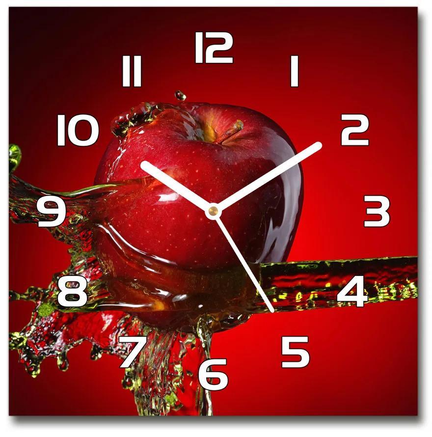 Sklenené hodiny štvorec Jablko a voda pl_zsk_30x30_f_33682743