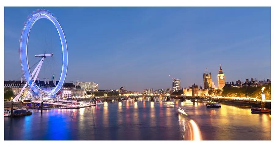 Moderný akrylový fotoobraz Londoy Eye Londýn pl-oa-140x70-f-53327501