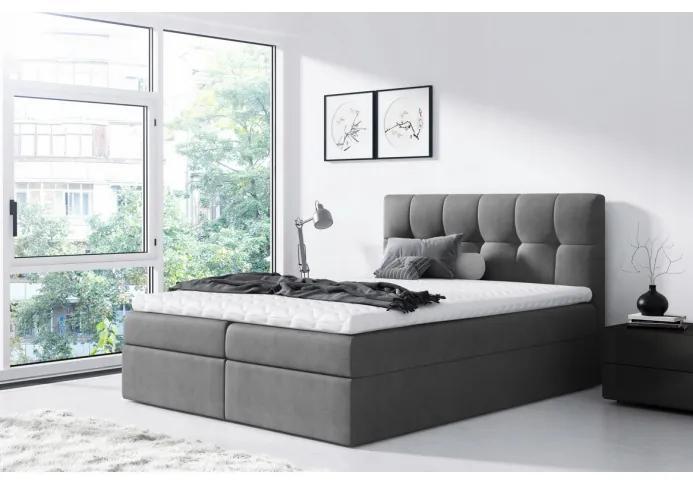 Jednoduchá posteľ Rex 120x200, šedá