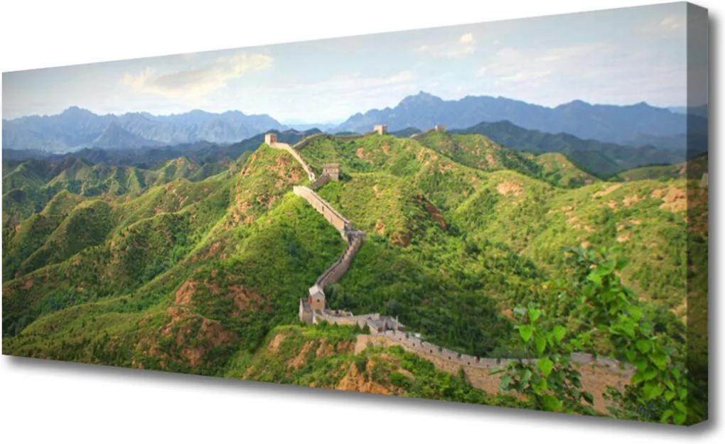 Obraz na plátně Velká zeď hora krajina