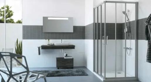 Sprchové dvere Huppe dvojkrídlové 100 cm, sklo číre, chróm profil, univerzálny C21210.069.322