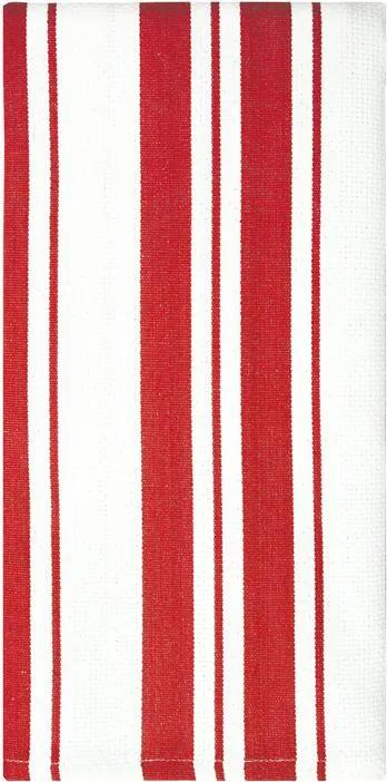 MÜkitchen Kuchynská utierka/uterák s červenými pásikmi MÜincotton®