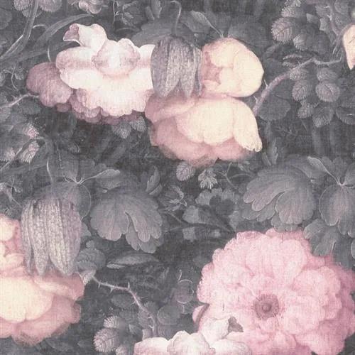 Vliesové tapety na stenu Metropolitan Stories 36921-2, rozmer 10,05 m x 0,53 m, florálny vzor ružovo-čierny, A.S.Création