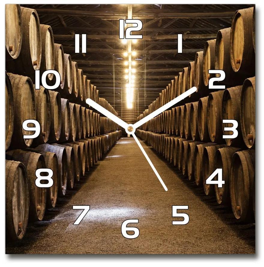 Sklenené hodiny štvorec Vináreň v Porto pl_zsk_30x30_f_78509744
