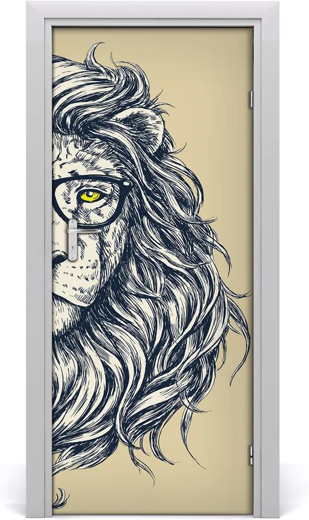 Samolepící fototapeta na dveře Hipsterský lev