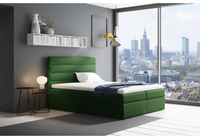 Manželská čalúnená posteľ Sergej 120x200, zelená