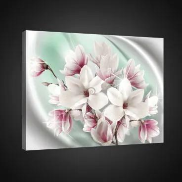 Obraz na plátne obdĺžnik - OB0820 - Ružové kvety 100cm x 75cm - O1