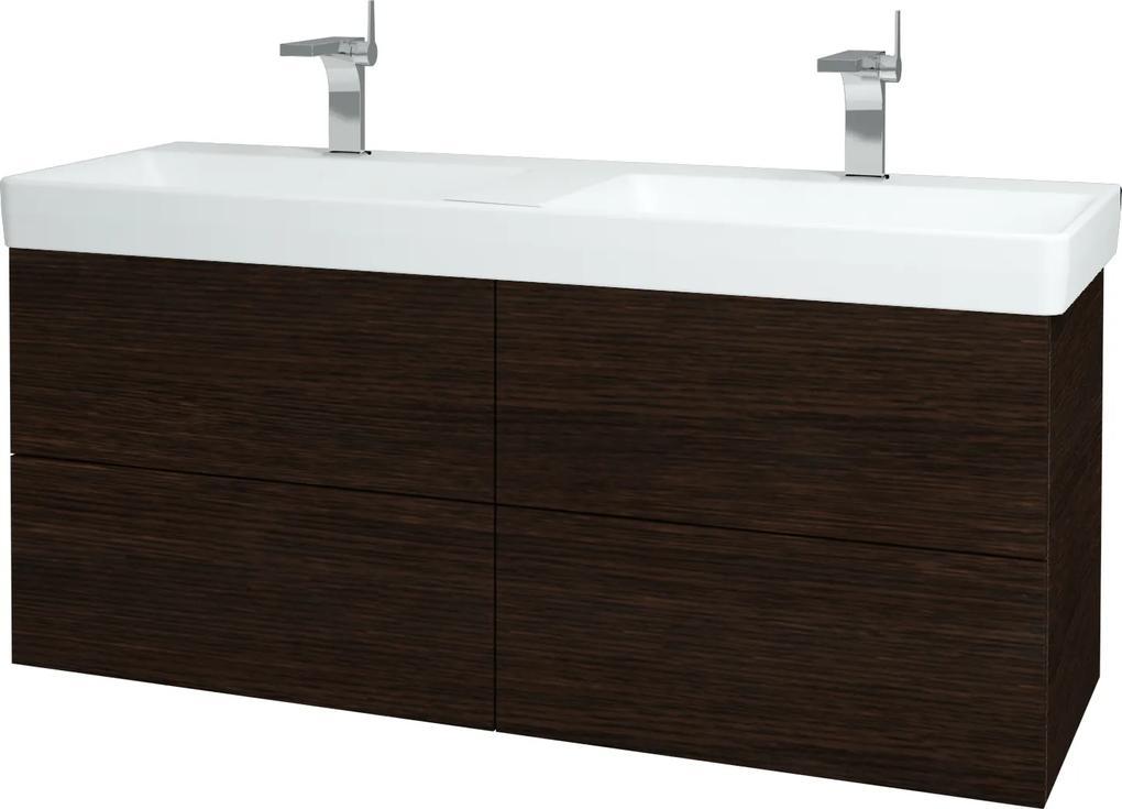 Dřevojas - Koupelnová skříň VARIANTE SZZ4 130 - D08 Wenge / D08 Wenge (165130)