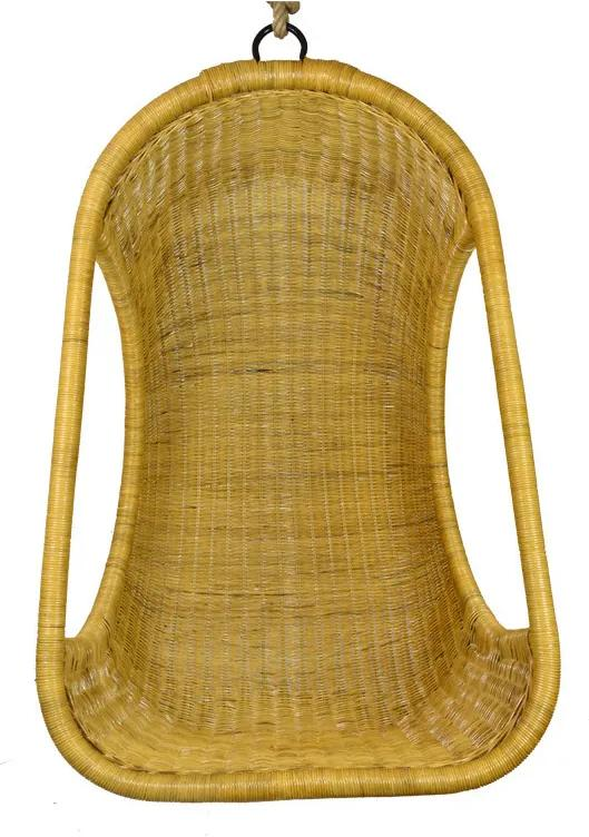 Vingo Závěsné ratanové křeslo medové Rozměry (cm): Křeslo