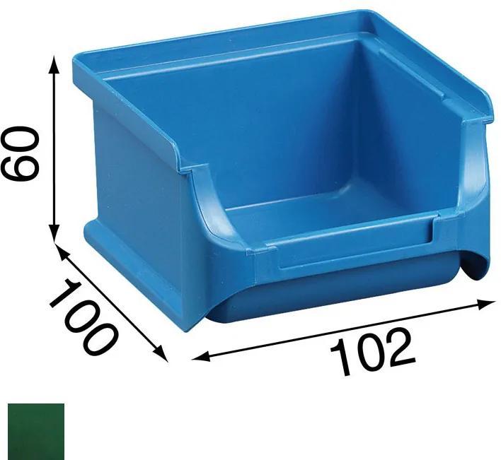 Allit Plastové boxy na drobný materiál - 102 x 100 x 60 mm, zelené