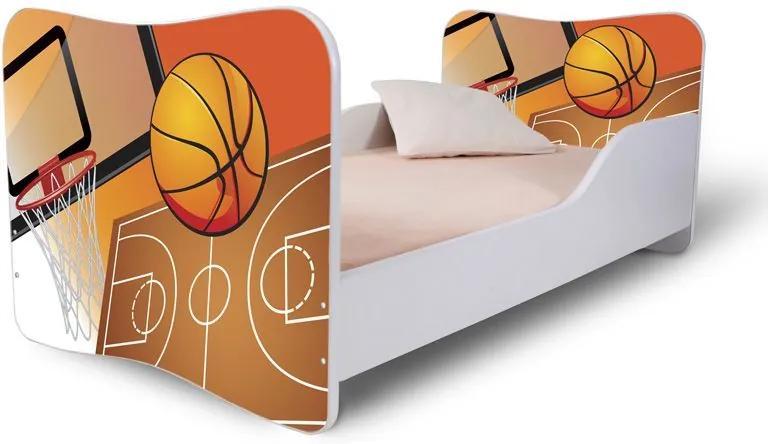 MAXMAX Detská posteľ BASKETBAL + matrac ZADARMO 160x80 pre chlapca NIE