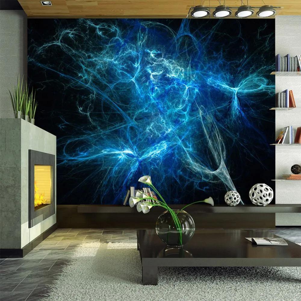 Fototapeta - Blue lightning bolts 200x154
