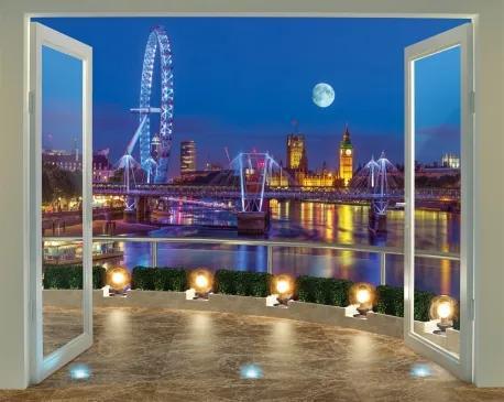 Výhľad na Londýn 3D tapeta Walltastic