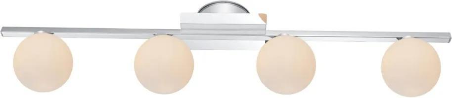 Globo 5663-4L Stropné Svietidlá CARDIFF chróm LED - 4 x G9 max. 3W 260lm 3000K IP44 A++