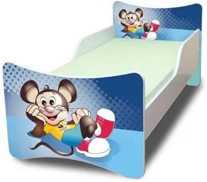 MAXMAX Detská posteľ 140x70 cm - Myšiak 140x70 pre chlapca NIE