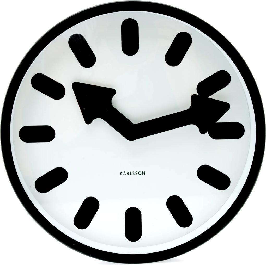 Bighome - Nástenné hodiny LOTUS - biela/čierna