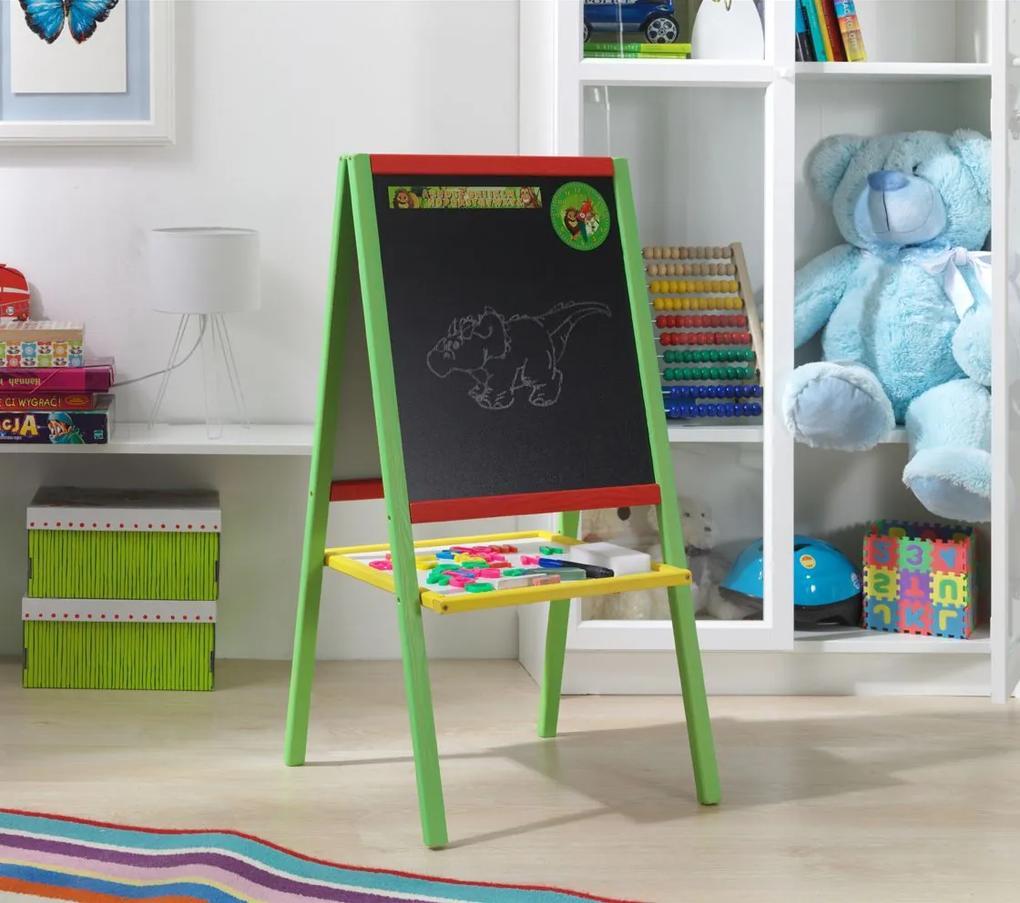 MAXMAX Drevená detská magnetická tabuľa 90x45,5 cm
