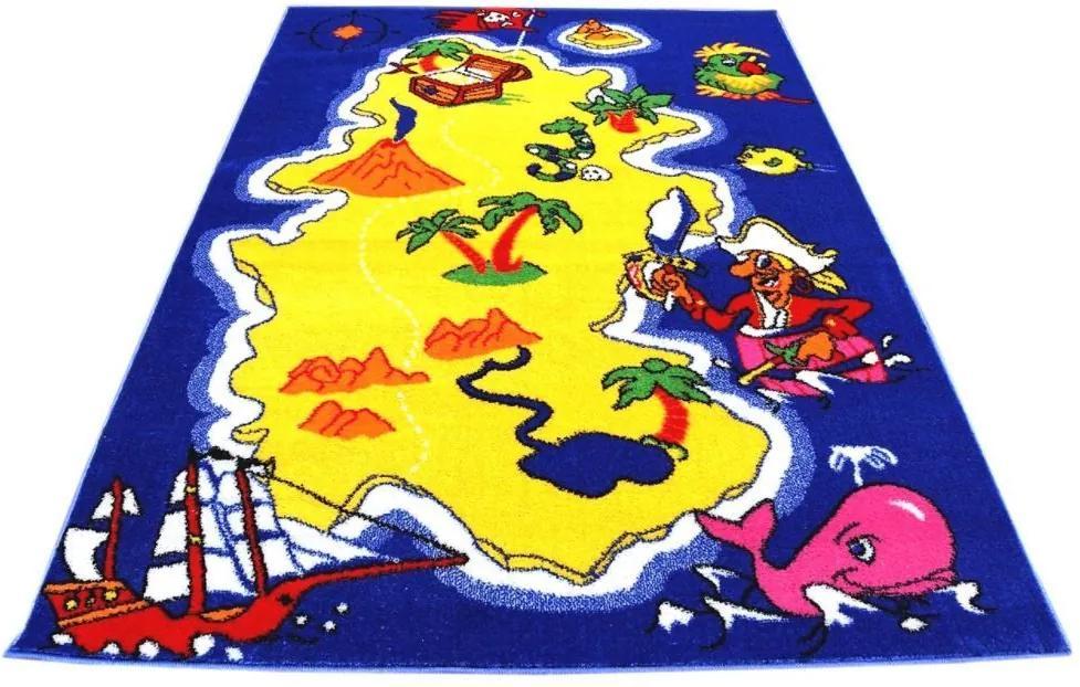 MAXMAX Detský koberec Ostrov pokladov