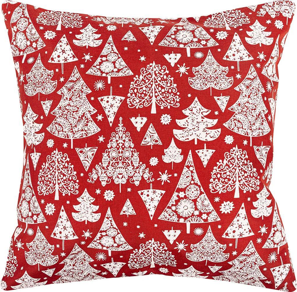 Dakls Vianočná obliečka Stromček červená, 40 x 40 cm