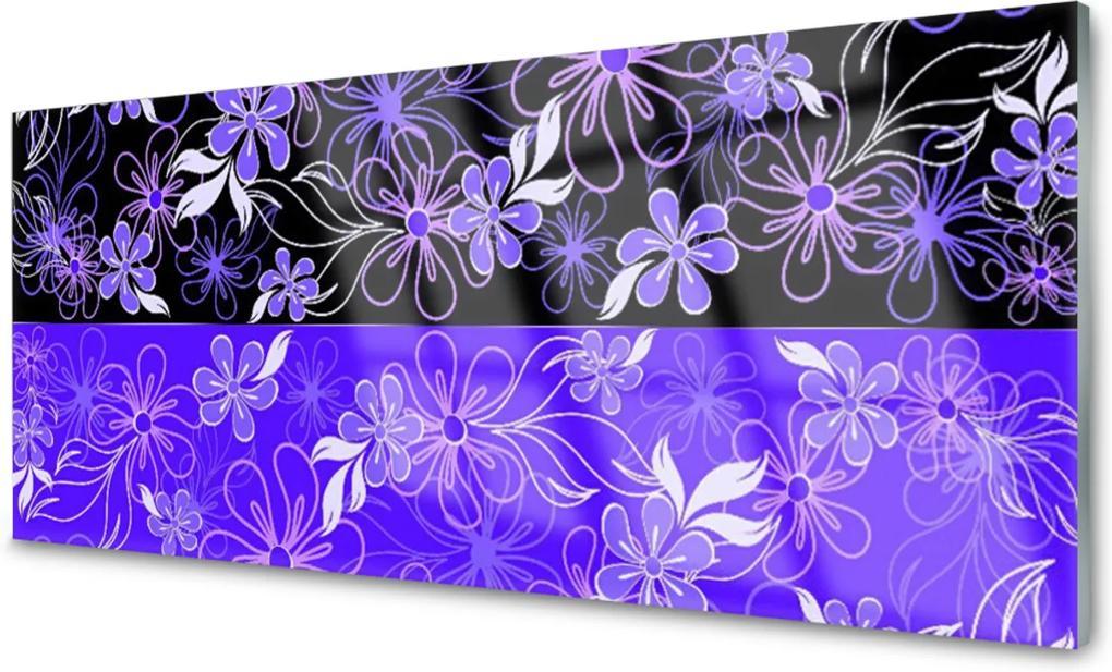 Plexisklo obraz Abstrakce vzory květiny art
