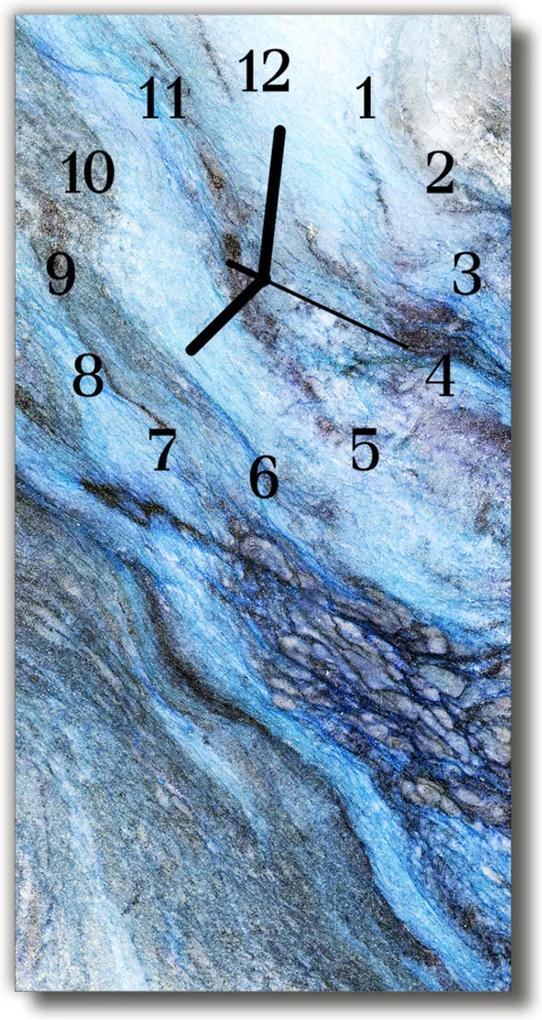 Nástěnné hodiny vertikální Přírodní modrý kámen