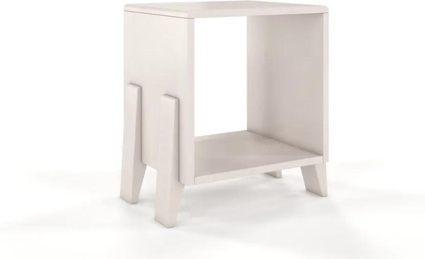 Biely nočný stolík z bukového dreva Skandica Visby Gdansk